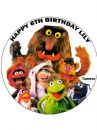 7.5 The Muppets Personalised Edible Icing or Wafer Cake Top Topper